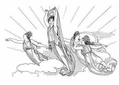 Circe Coloring Oddyseus Mythology Odysseus Pages Morning
