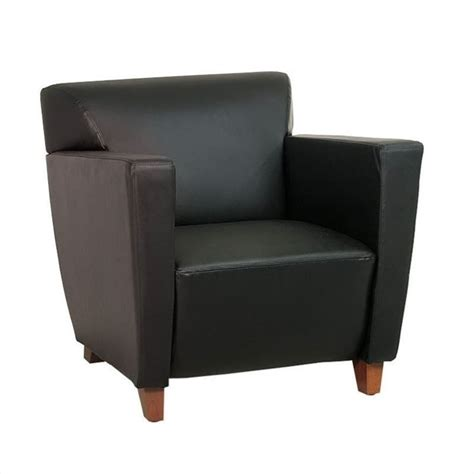 leather club chair in black sl8471