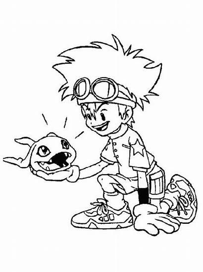 Coloring Pages Savage Template Digimon Sketch