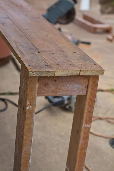 diy sofa table plans diy console table