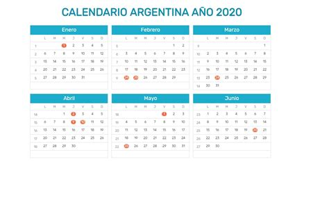 calendario argentina imprimir finanzas economia