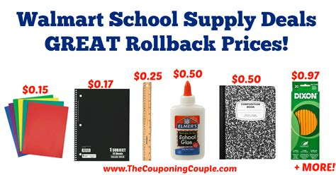 Office Depot Donation Request by Walmart School Supply Deals Great Rollback Prices