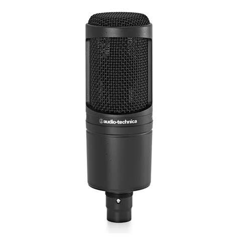 audio technica at2020 cardioid condenser microphone at gear4music