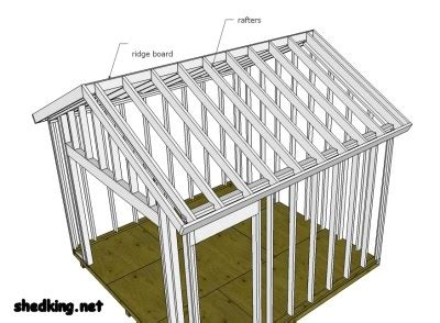 shed roof framing shed roof framing made easy