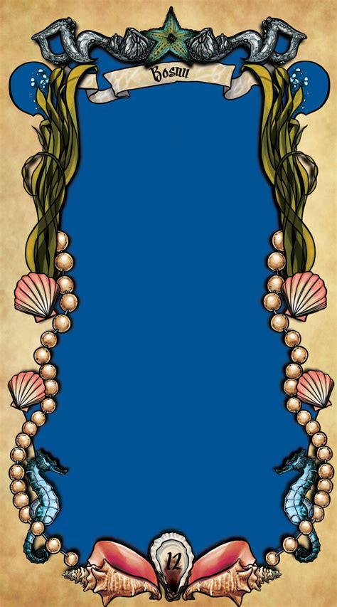 tarot card template uphelios tarot mermaids template by tarorae on deviantart