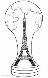 Eiffel Tower Coloring Pages Paris Printable Drawing France Cool2bkids Eifel Themed Theme Towers Adult Visit Template sketch template