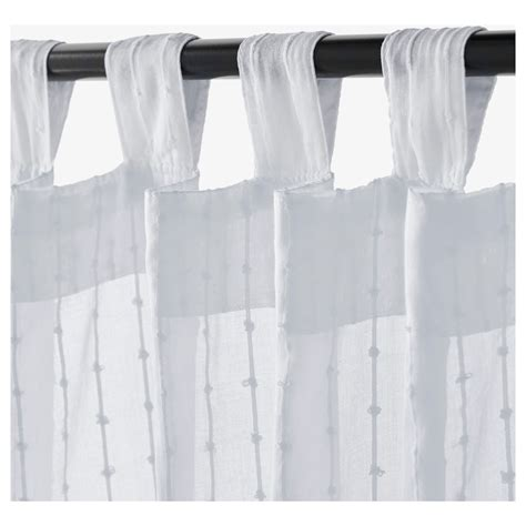matilda sheer curtains 1 pair white 140x250 cm ikea