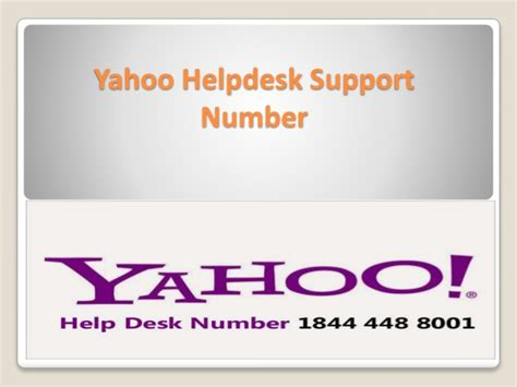 1844 448 8001 Yahoo Help Desk Support Number For Rectify