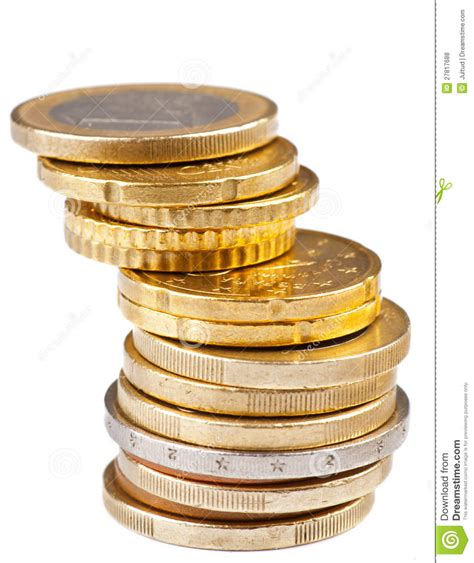 Stack Of Coins Royalty Free Stock Photos  Image 27817688