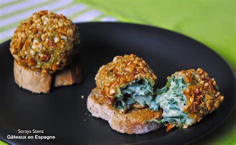 cuisiner epinards gâteaux en espagne recette de croquettes aux épinards aux amandes
