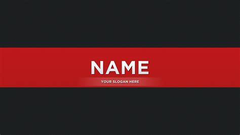 Red Youtube Banner on Behance
