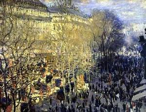 Claude Monet (French, Impressionism, 1840-1926): Boulevard ...
