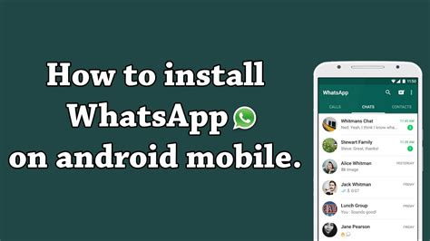how to and install whatsapp android mobile youtube