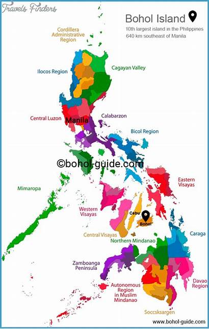 Philippines Tourist Map Cebu Attractions Travelsfinders