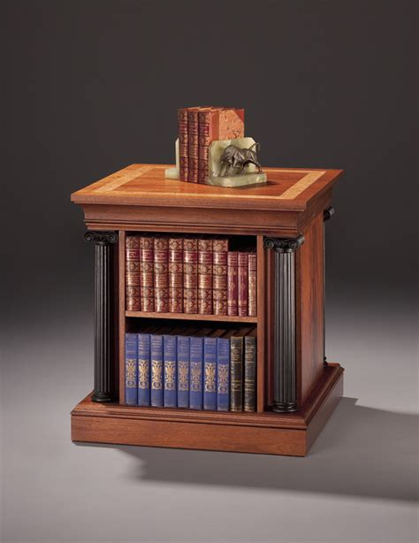 End Table Bookcase by End Table With Revolving Bookcase Finewoodworking