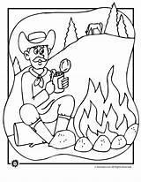 Campfire Coloring Cowboy Jr Animal Designlooter Campire 5kb 880px Popular sketch template