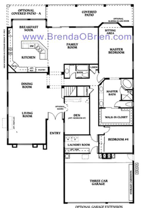 saddlebrooke floor plan durango model floor plan