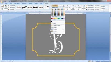 create  monogram  word pretty monograms monogram microsoft word