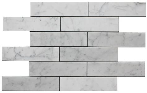 2x8 subway tile herringbone carrara bianco 2x8 quot marble subway tiles bathroom remodel