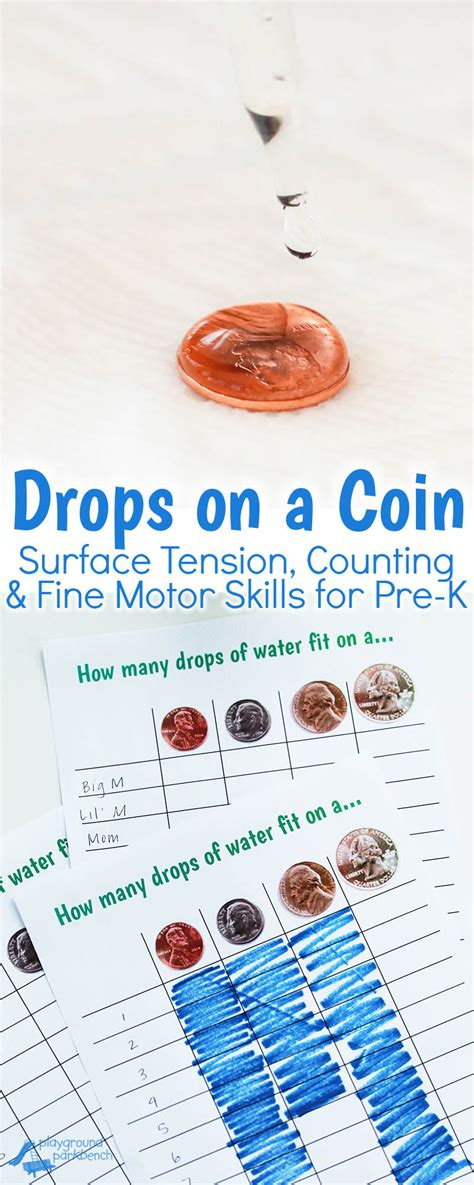 drops   coin  preschool stem activity