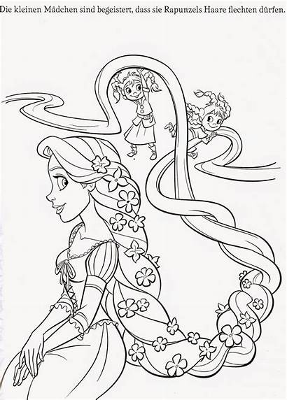 Coloring Tangled Pages Printable Rapunzel Pascal Gothel