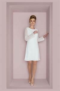 Brautkleid Vintage Schlicht : brautkleid im 60er jahre stil langarm minikleid mit ~ Watch28wear.com Haus und Dekorationen