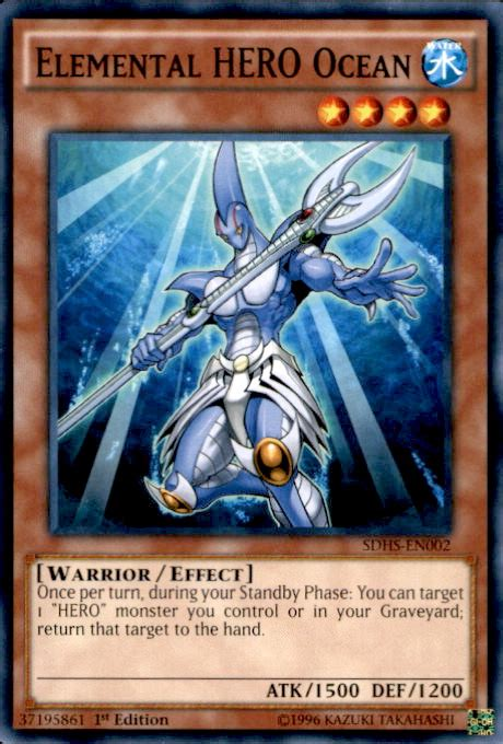 elemental hero ocean sdhs en002 hero strike structure deck