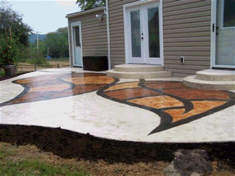 painting concrete patios painted concrete