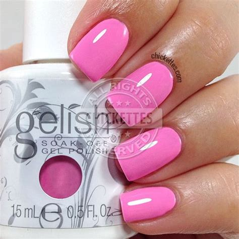 what colors look on me gelish look at you pink achu chickettes soak