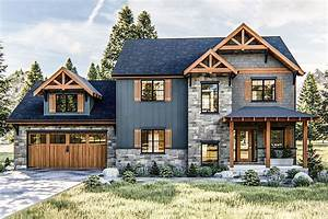 Plan, 62721dj, Mountain, Rustic, House, Plan, With, 3, Upstairs, Bedrooms, In, 2020