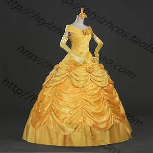 princesse belle robe belle et la bete belle cosplay With robe de la belle et la bete adulte