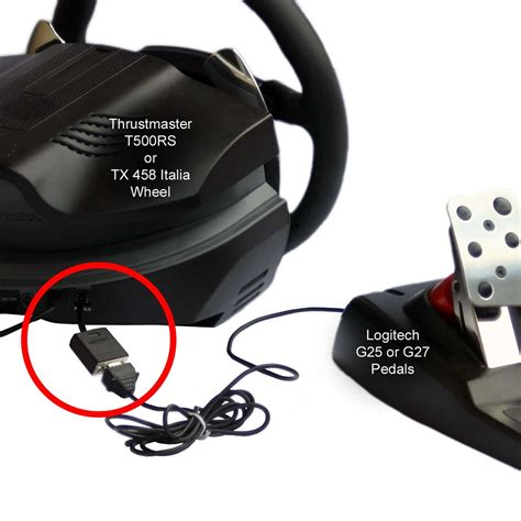 adapter  thrustmaster wheel  logitech pedals