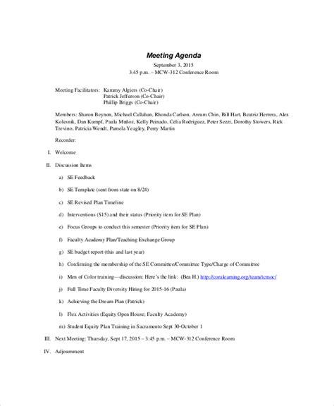 Formal Meeting Agenda Template  7+ Free Word, Pdf