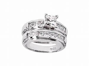 225ct round princess diamond engagement ring wedding band for Where to sell wedding ring set