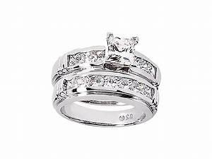 225ct round princess diamond engagement ring wedding band for Sell wedding ring set