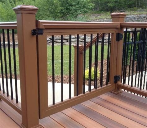 outdoor gate for deck stairs 25 best ideas about composite deck railing on 7227
