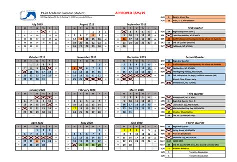 school calendar brookville middle school