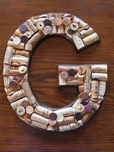 but a c g just g pinterest With wine cork letter g