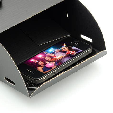 diy cardboard smartphone projector  magnification