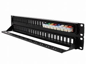2u High-density Blank Patch Panel