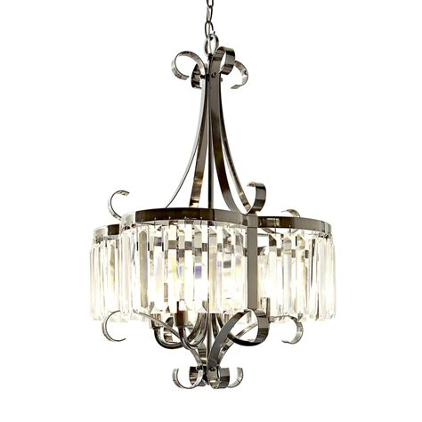 style selections shop style selections 18 in 4 light black chrome clear glass standard chandelier at lowes com