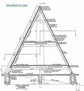 24x24 a frame cabin shed plans blueprints to craft a home shed With of the roof trussesfor a diagram explaining these terms click here