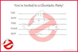 Ghostbusters Birthday Party Invitations Printable Free