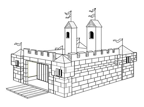 chambre fille princesse disney coloriage chateau fort à imprimer sur coloriages info