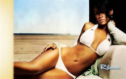 Bikini Rihanna Wallpapers Swimsuit Celebrity Unseen Desktop