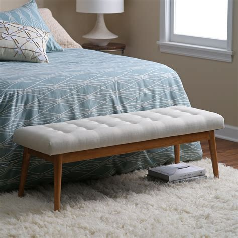 Bench Bedroom by Belham Living Darby Mid Century Modern Upholstered Bench