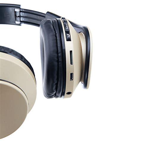 foldable wireless bluetooth stereo bass fm headphones