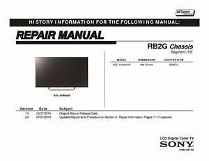 Sony Kdl-42w805b Service Manual