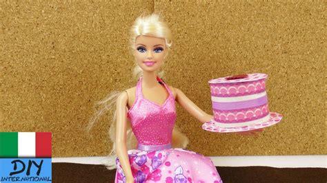 Divano Barbie Fai Da Te : Torta Alla Crema Di Carta Per Il Gioco