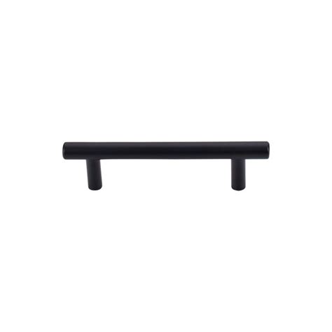 black cabinet bar pulls top knobs m988 flat black hopewell 3 3 4 inch center to